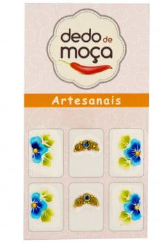 Adesivos Artesanal Com Jóias Modelo 09
