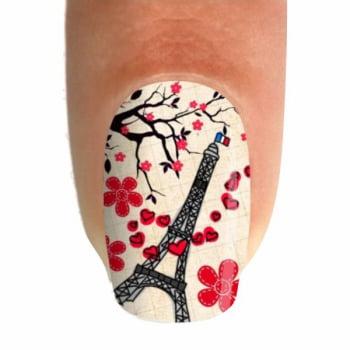 Adesivo para Unha - Outono em Paris