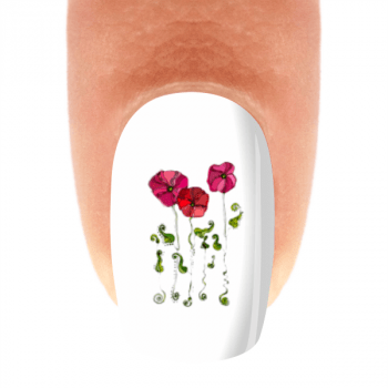 Adesivo para Unha - Primavera 3 Flores